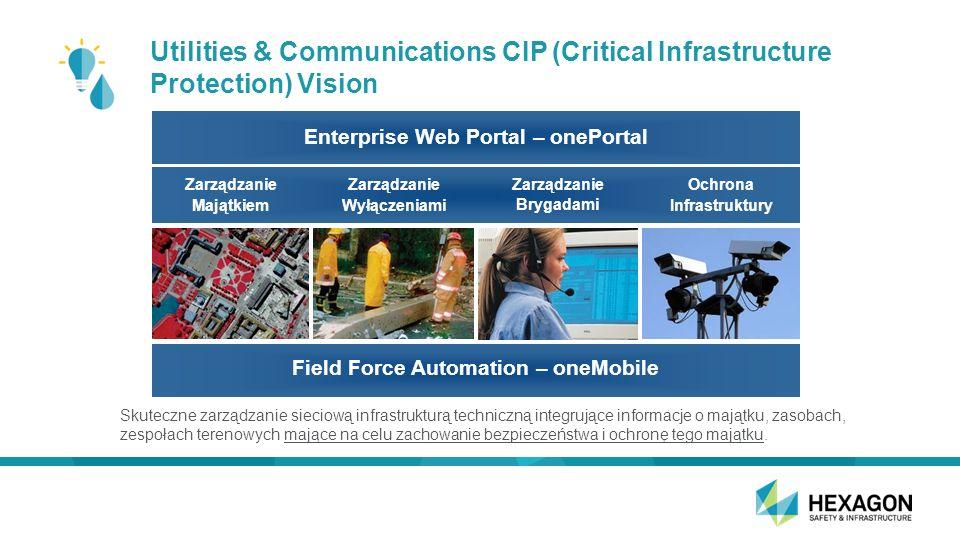 Utilities & Communications CIP (Critical Infrastructure Protection) Vision Skuteczne zarządzanie sieciową infrastrukturą techniczną integrujące informacje o majątku, zasobach, zespołach terenowych mające na celu zachowanie bezpieczeństwa i ochronę tego majątku.