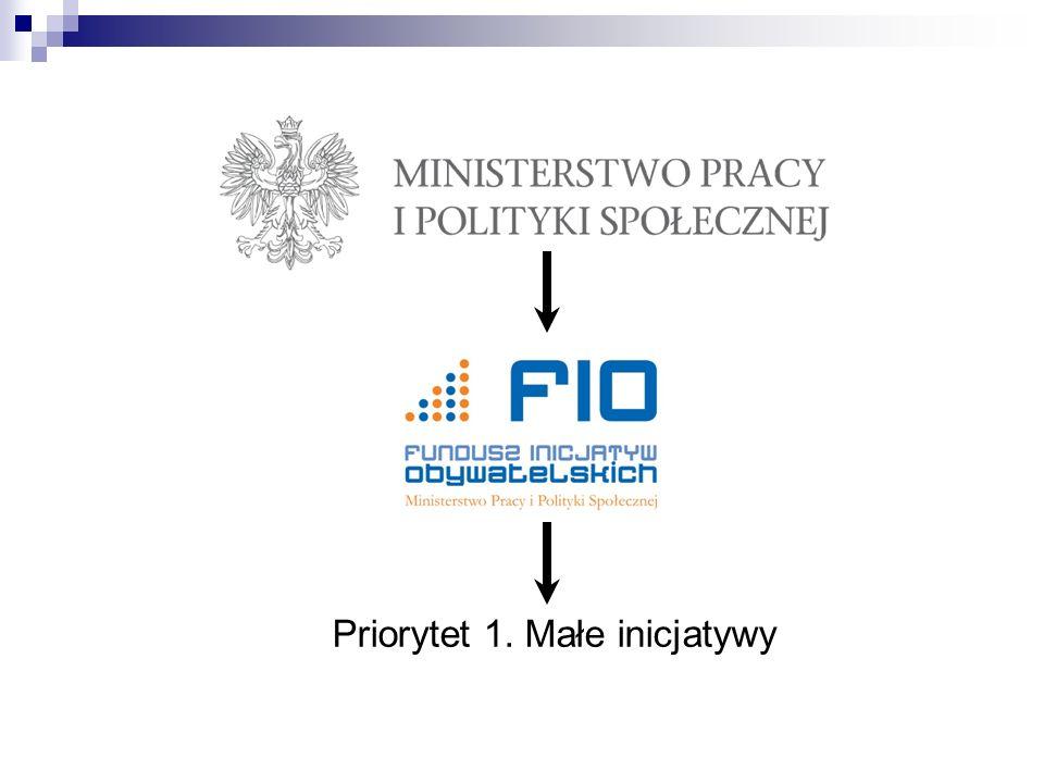 Priorytet 1. Małe inicjatywy
