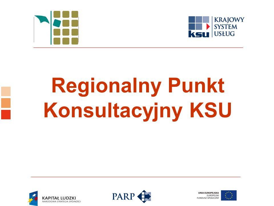 Logo ośrodka KSU Regionalny Punkt Konsultacyjny KSU