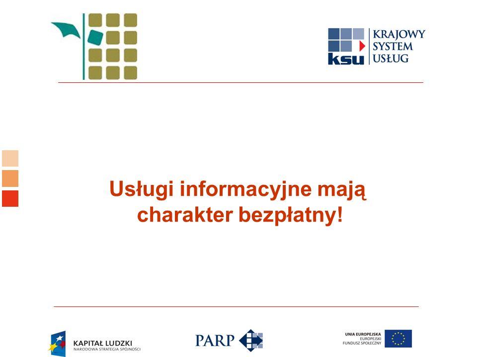 Logo ośrodka KSU Usługi informacyjne mają charakter bezpłatny!