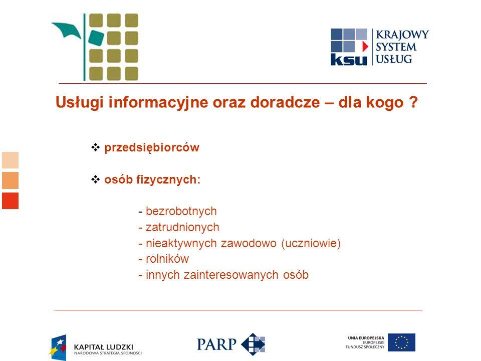 Logo ośrodka KSU Usługi informacyjne oraz doradcze – dla kogo .