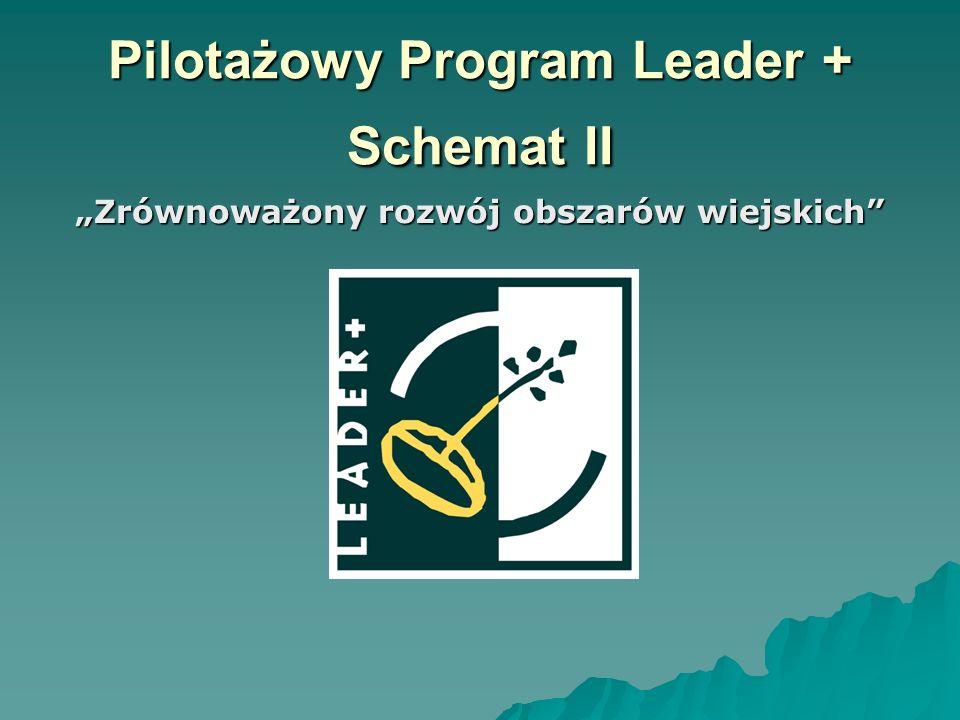 """Pilotażowy Program Leader + Schemat II """"Zrównoważony rozwój obszarów wiejskich"""