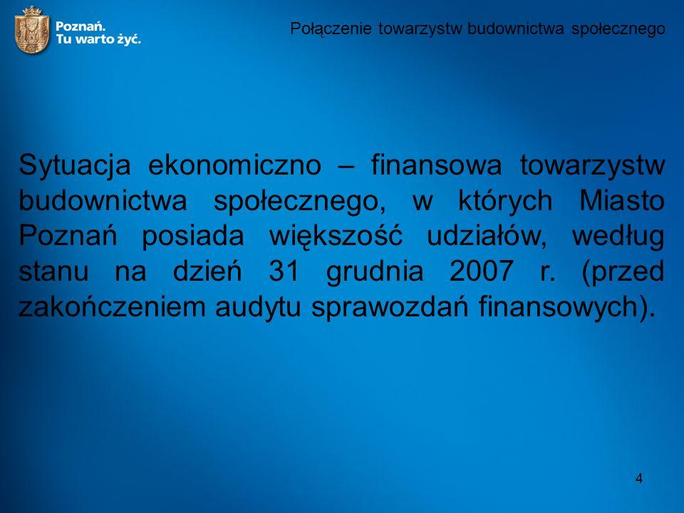 4 Sytuacja ekonomiczno – finansowa towarzystw budownictwa społecznego, w których Miasto Poznań posiada większość udziałów, według stanu na dzień 31 gr
