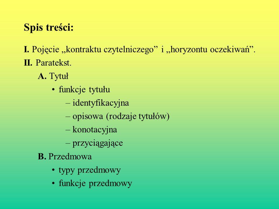 II.Paratekst - Tytuł.