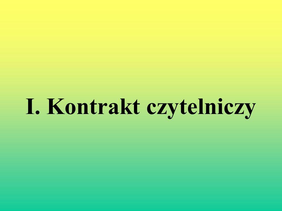 II.Paratekst - Tytuł. G. Genette rozróżnia cztery rodzaje tytułów: Funkcja opisowa.