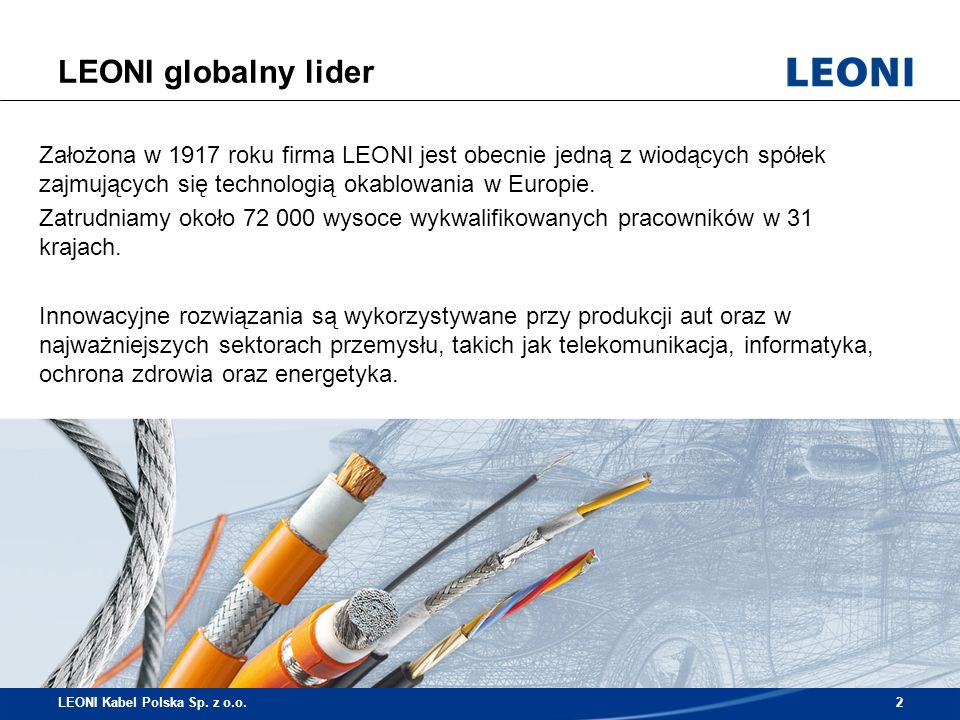 LEONI globalny lider LEONI Kabel Polska Sp. z o.o.3