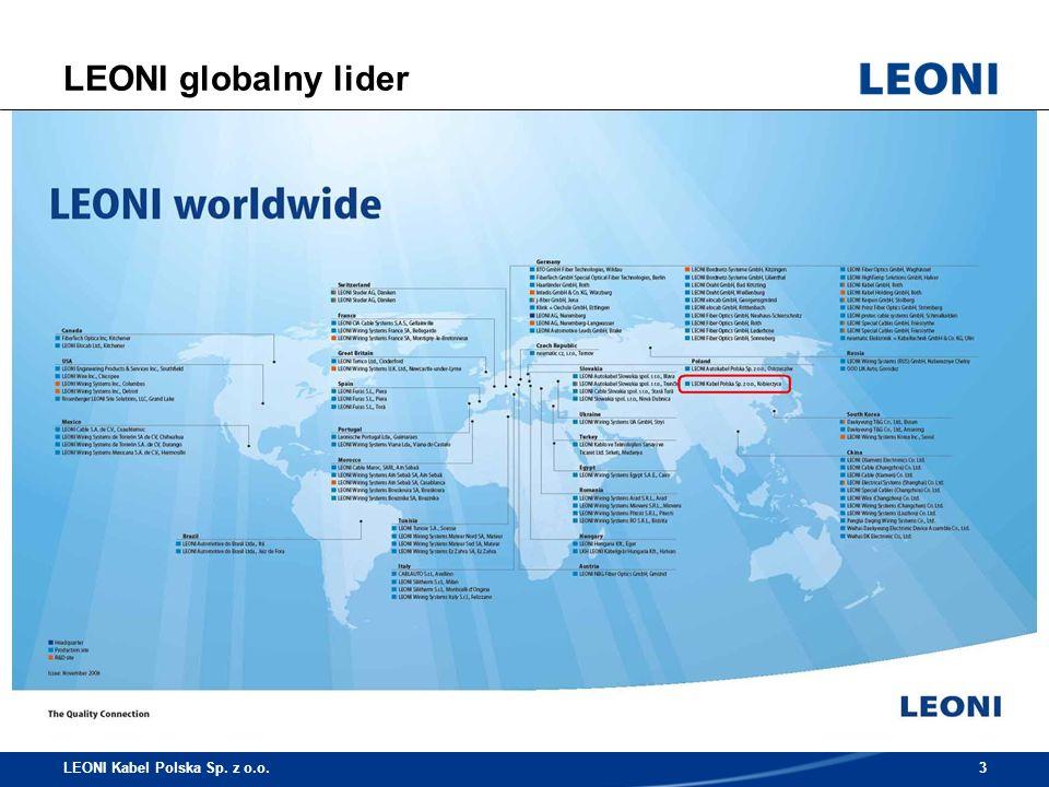 Oczekujemy – wiedzy i kwalifikacji Pożądane kwalifikacje w Logistyce: Znajomość zagadnień z zakresu logistyki (konwencja CMR, prawo przewozowe, INCOTERMS) Znajomość zagadnień z zakresu prawa celnego Wykształcenie z zakresu logistyki lub ekonomii Dobra obsługa pakietu MS Office Bardzo dobra znajomość języka angielskiego i/lub niemieckiego LEONI Kabel Polska Sp.