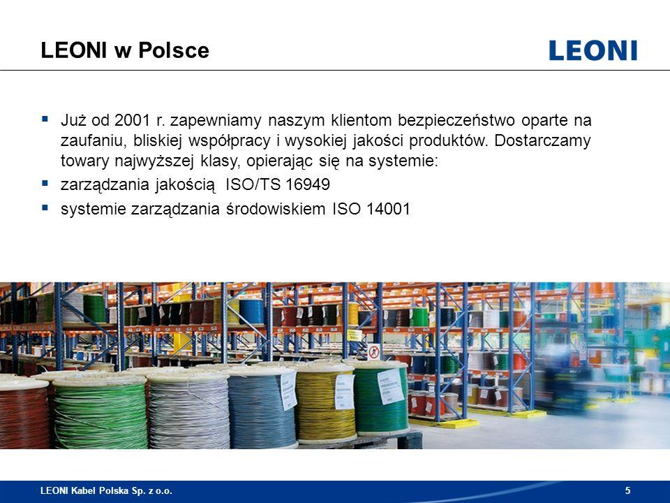 Lokalizacje LEONI w Polsce LEONI Kabel Polska Sp.z o.o.