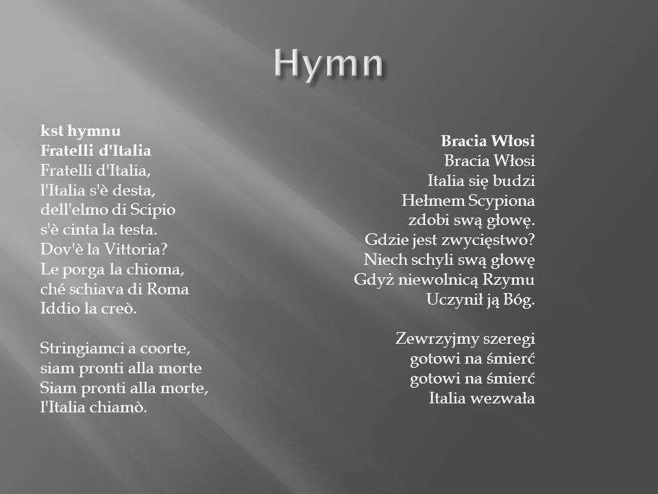kst hymnu Fratelli d Italia Fratelli d Italia, l Italia s è desta, dell elmo di Scipio s è cinta la testa.