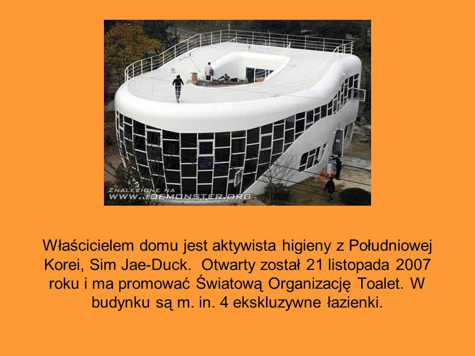 Właścicielem domu jest aktywista higieny z Południowej Korei, Sim Jae-Duck. Otwarty został 21 listopada 2007 roku i ma promować Światową Organizację T