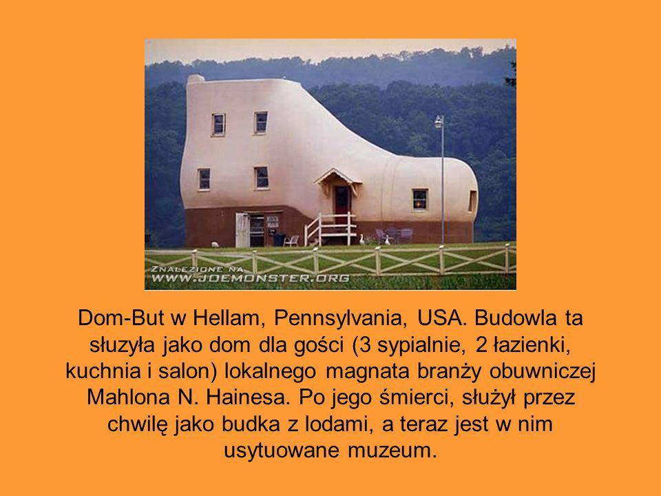 Dom-But w Hellam, Pennsylvania, USA. Budowla ta słuzyła jako dom dla gości (3 sypialnie, 2 łazienki, kuchnia i salon) lokalnego magnata branży obuwnic