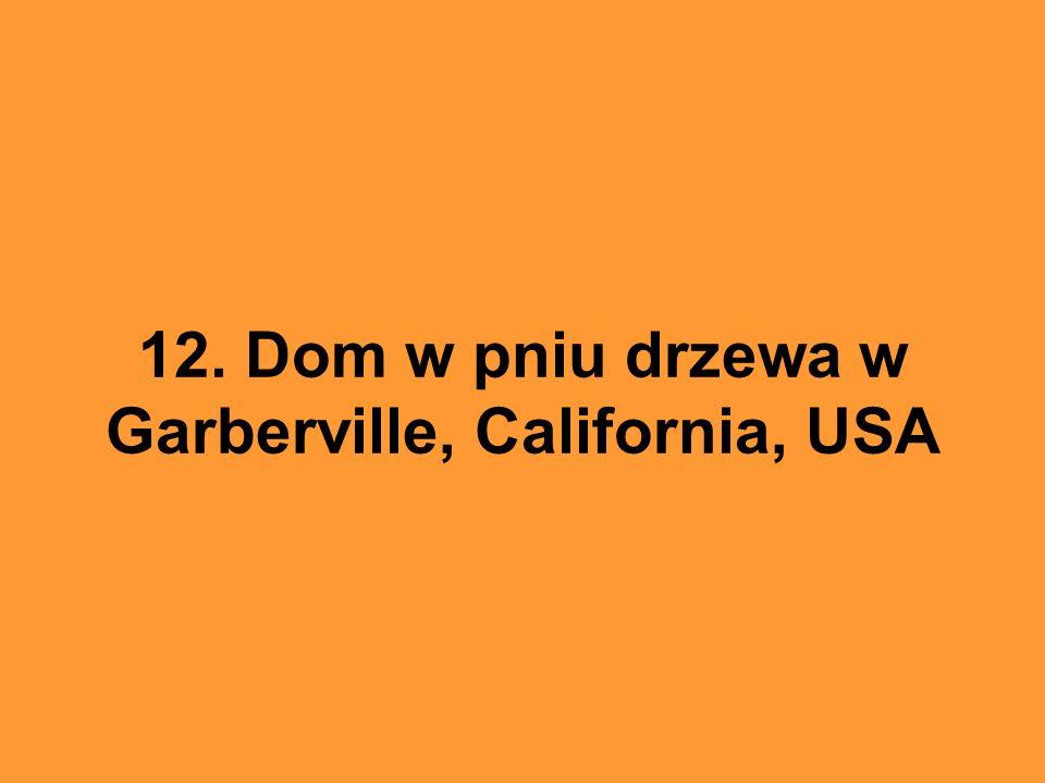 12. Dom w pniu drzewa w Garberville, California, USA
