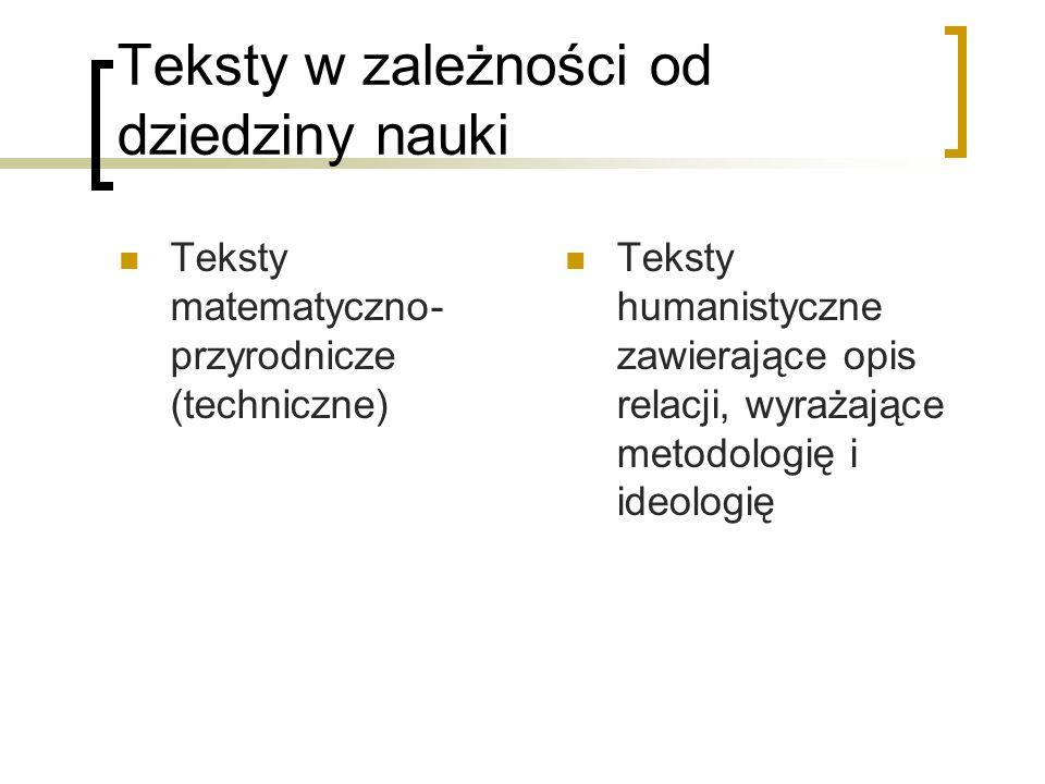 Techniki tłumaczenia – zmiany w przekładzie tekstu naukowego 2) opuszczenia – np..