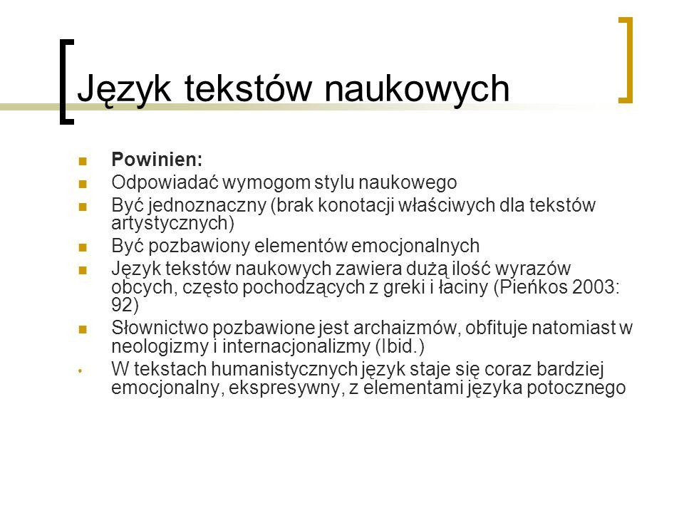 Typy komentarzy tłumacza K.