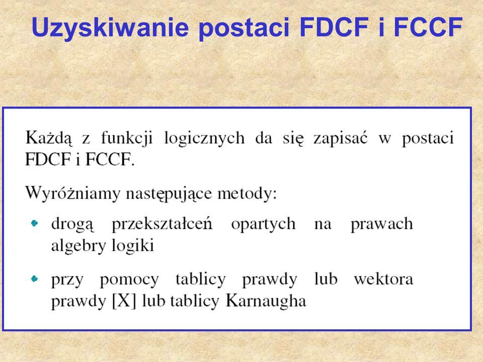Uzyskiwanie postaci FDCF i FCCF
