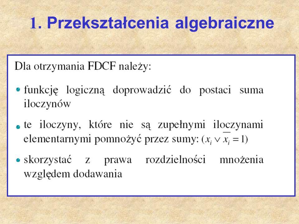 1. Przekształcenia algebraiczne