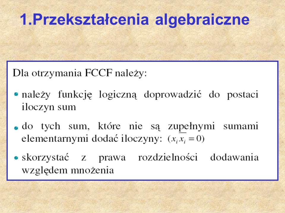 1.Przekształcenia algebraiczne