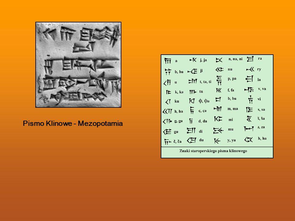 Pismo Klinowe - Mezopotamia