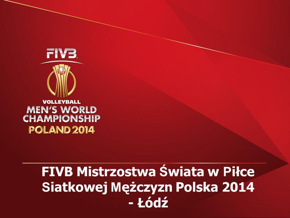 FIVB Mistrzostwa Ś wiata w P iłce S iatkowej M ężczyzn Polska 2014 - Łódź