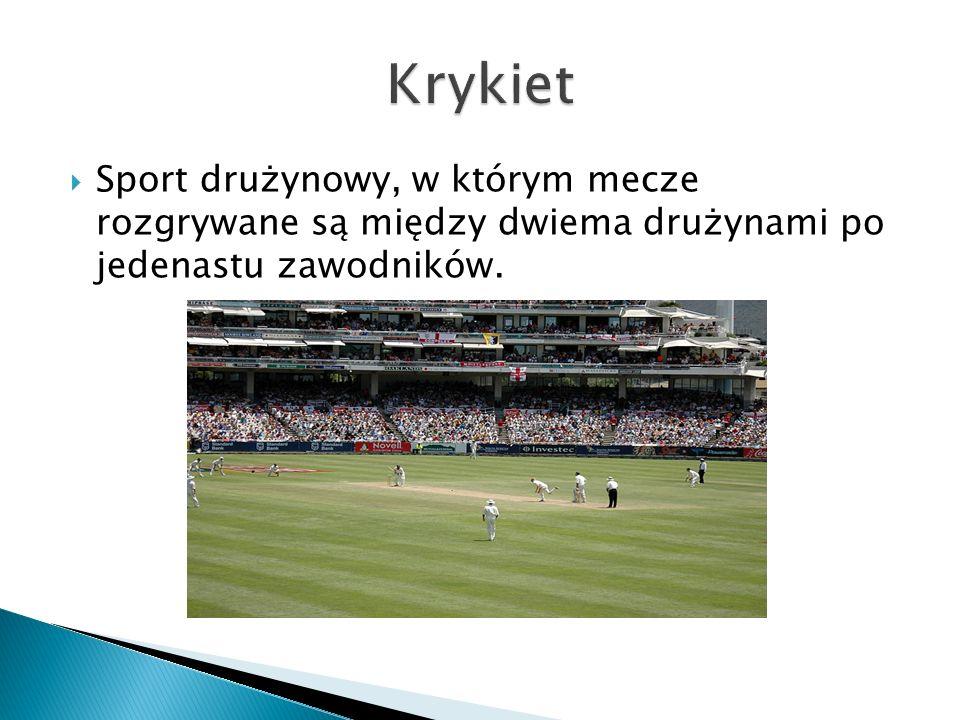  Sport drużynowy, w którym mecze rozgrywane są między dwiema drużynami po jedenastu zawodników.