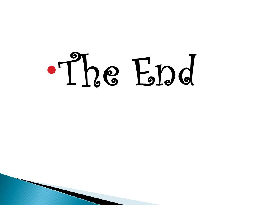  The End