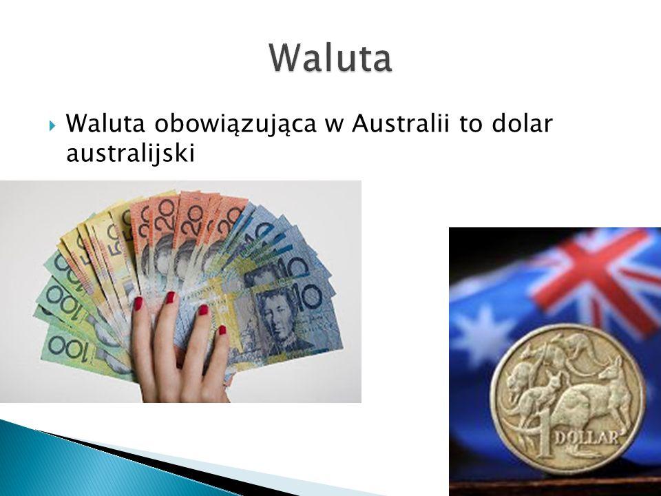  Waluta obowiązująca w Australii to dolar australijski