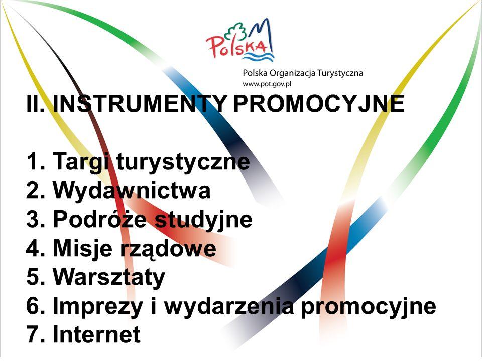 II. INSTRUMENTY PROMOCYJNE 1. Targi turystyczne 2.