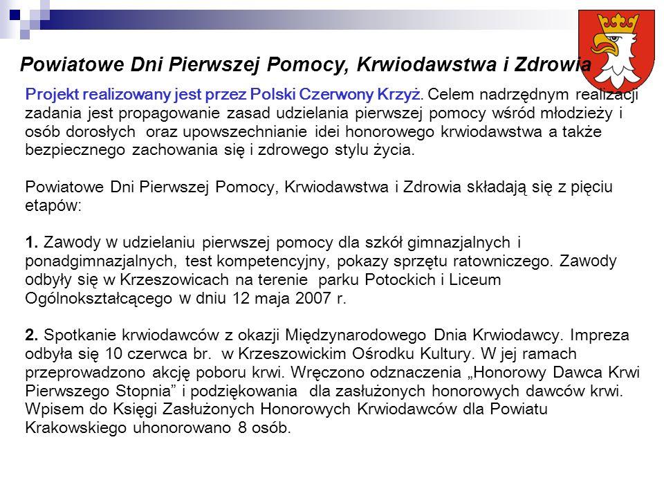 Projekt realizowany jest przez Polski Czerwony Krzyż.
