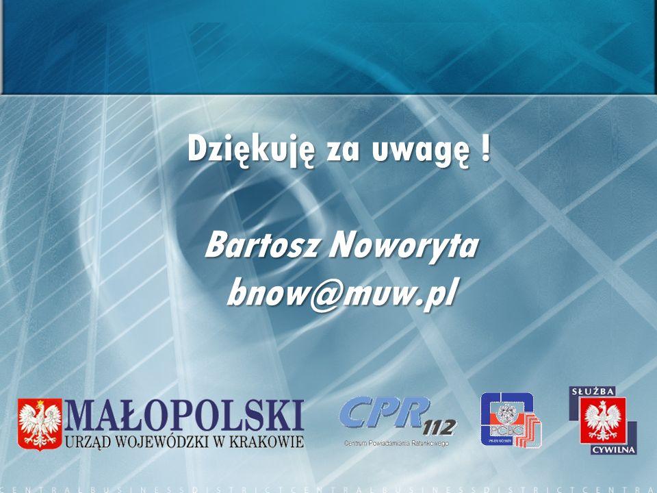 Dziękuję za uwagę ! Bartosz Noworyta bnow@muw.pl