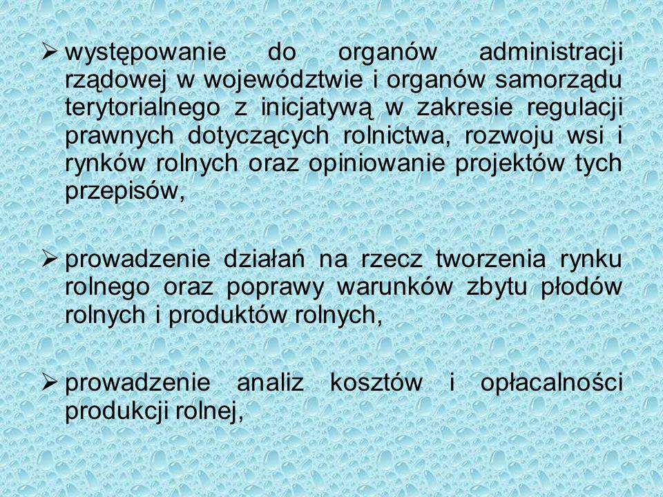  występowanie do organów administracji rządowej w województwie i organów samorządu terytorialnego z inicjatywą w zakresie regulacji prawnych dotycząc