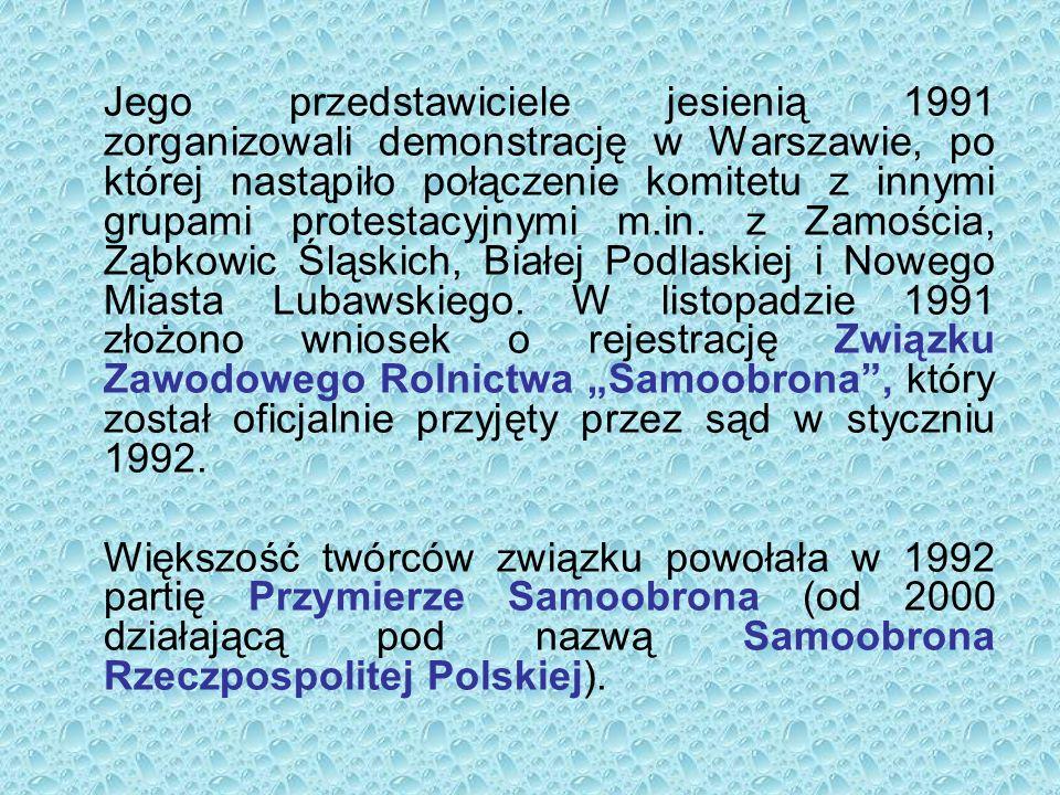 Jego przedstawiciele jesienią 1991 zorganizowali demonstrację w Warszawie, po której nastąpiło połączenie komitetu z innymi grupami protestacyjnymi m.in.
