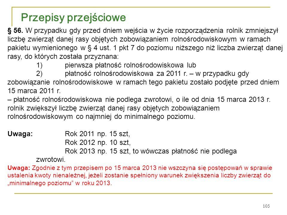 105 Przepisy przejściowe § 56.