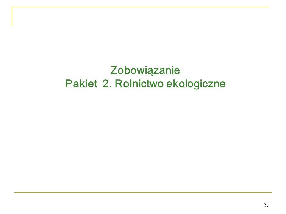 31 Zobowiązanie Pakiet 2. Rolnictwo ekologiczne 31