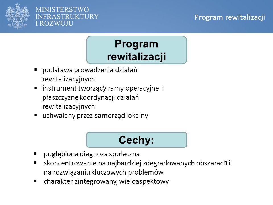 Program rewitalizacji  pogłębiona diagnoza społeczna  skoncentrowanie na najbardziej zdegradowanych obszarac h i na rozwiązaniu kluczowych problemów