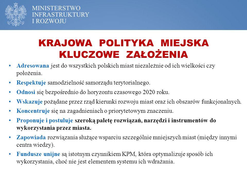 Adresowana jest do wszystkich polskich miast niezależnie od ich wielkości czy położenia. Respektuje samodzielność samorządu terytorialnego. Odnosi się