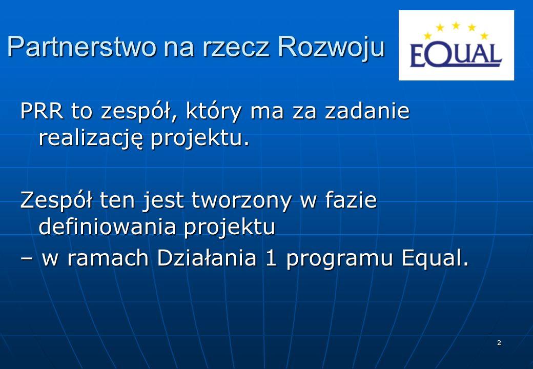 2 Partnerstwo na rzecz Rozwoju PRR to zespół, który ma za zadanie realizację projektu.