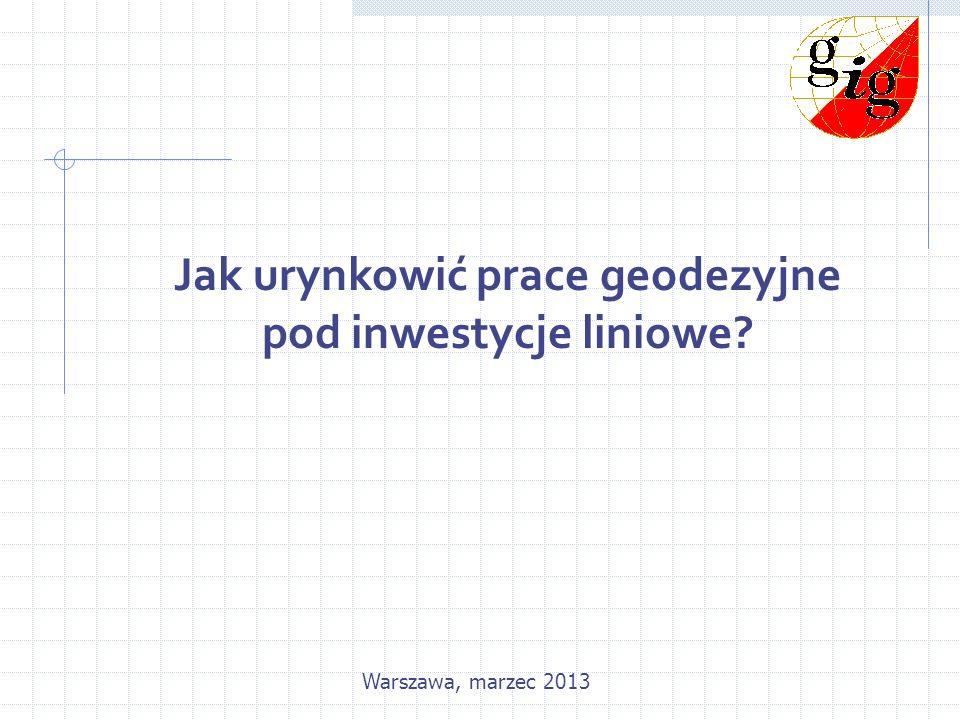 Jak urynkowić prace geodezyjne pod inwestycje liniowe?