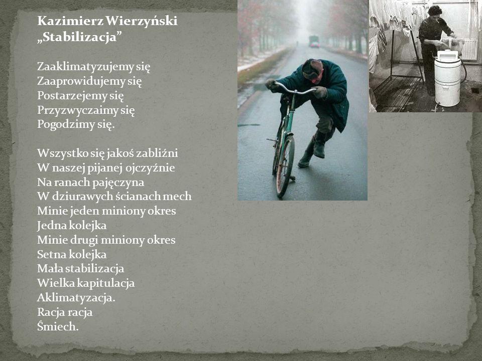 """Kazimierz Wierzyński """"Stabilizacja Zaaklimatyzujemy się Zaaprowidujemy się Postarzejemy się Przyzwyczaimy się Pogodzimy się."""