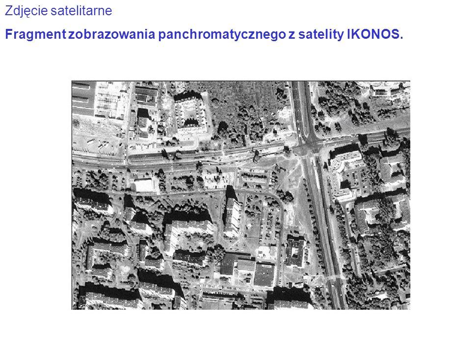 Zdjęcie satelitarne Fragment zobrazowania panchromatycznego z satelity IKONOS.