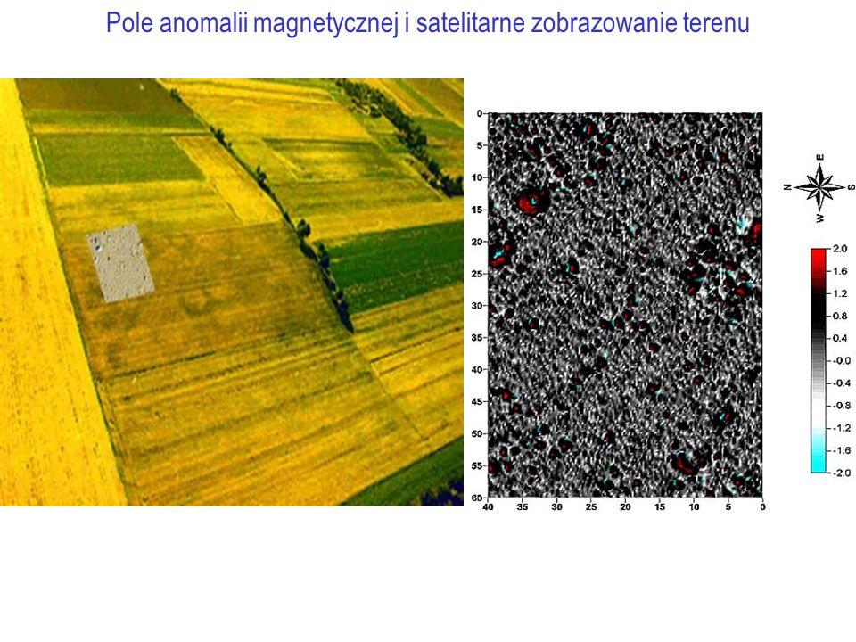 Pole anomalii magnetycznej i satelitarne zobrazowanie terenu