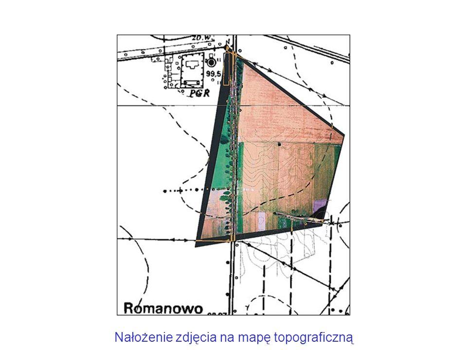 Nałożenie zdjęcia na mapę topograficzną