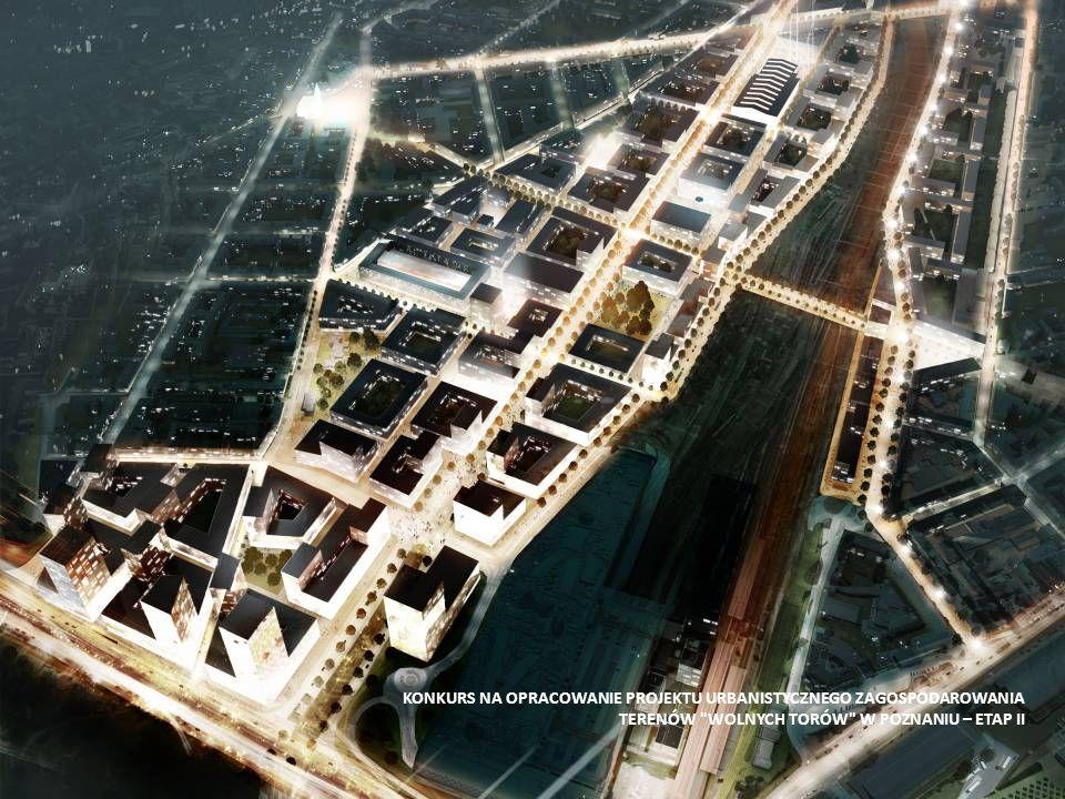 kompozycja przestrzenna Jednostki urbanistyczne o wielkościach dostosowanych do ludzkiej skali, możliwości percepcji i przemieszczania pieszego, ściśle powiązane z zabudową Wildy i Łazarza ukształtowane w oparciu o wartościowe obiekty istniejące.