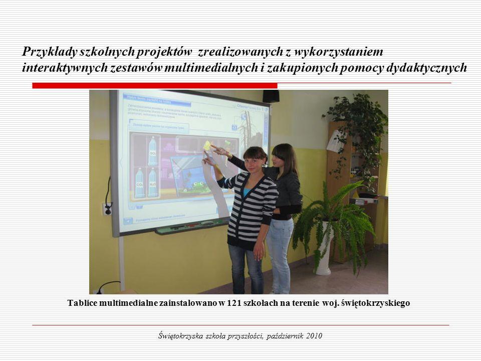 Tablice multimedialne zainstalowano w 121 szkołach na terenie woj.