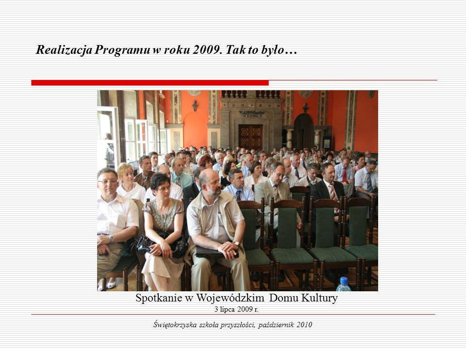 Świętokrzyski Program Wspierania Rozwoju Edukacji w 2010 roku Świętokrzyska szkoła przyszłości, październik 2010 DZIĘKUJĘ ZA UWAGĘ .