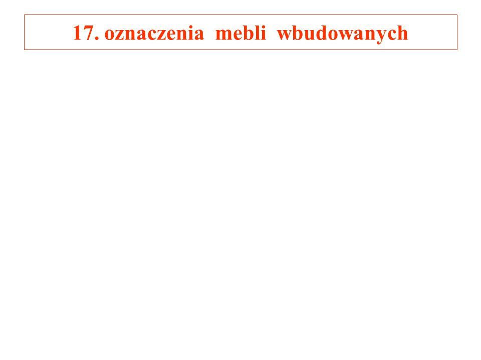 17. oznaczenia mebli wbudowanych
