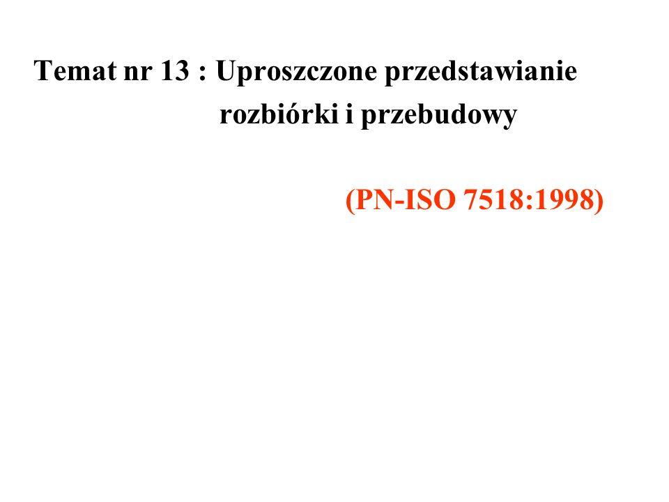 Temat nr 13 : Uproszczone przedstawianie rozbiórki i przebudowy (PN-ISO 7518:1998)