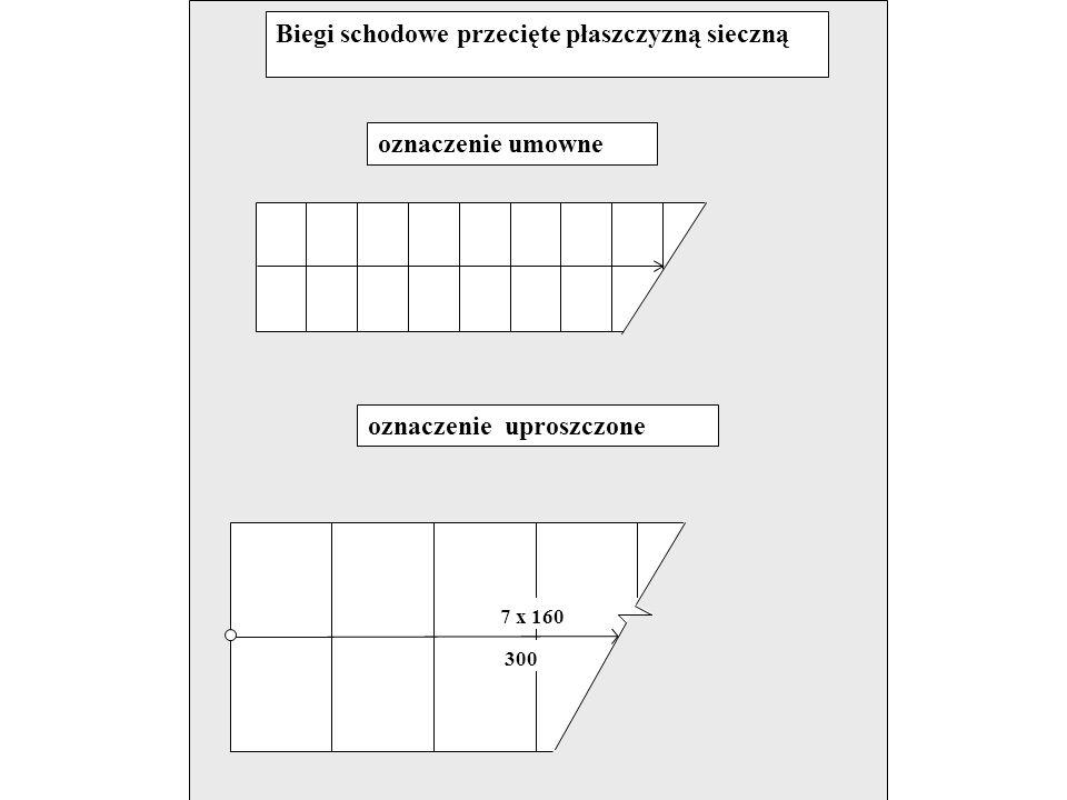 14. Drabiny Oznaczenia umowne i uproszczone  na rzutach  na przekrojach