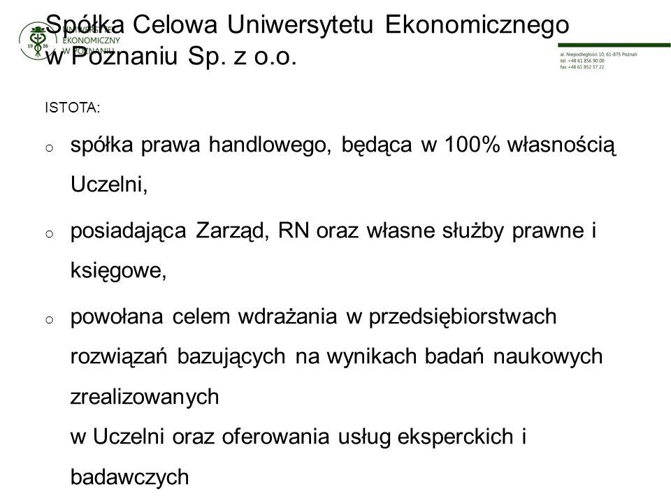 Spółka Celowa Uniwersytetu Ekonomicznego w Poznaniu Sp.