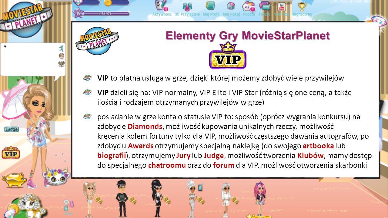 Elementy Gry MovieStarPlanet Boonie i zwierzaki - stworzenia, które można zakupić w grze.