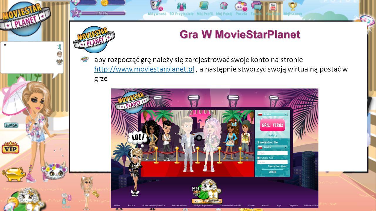Filmy Na MovieStarPlanet do filmu można dodać: maksymalnie 6 aktorów (8 dla kont VIP), boonies, zwierzaki, dekoracje (maksymalnie 20 przedmiotów na scenę) oraz zmienić tło i muzykę aktorów możemy przebierać, zmienić ich wyraz twarzy albo animację, którą wykonują.
